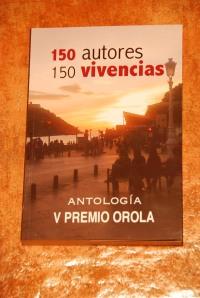 Portada de la Antología del V premio Orola